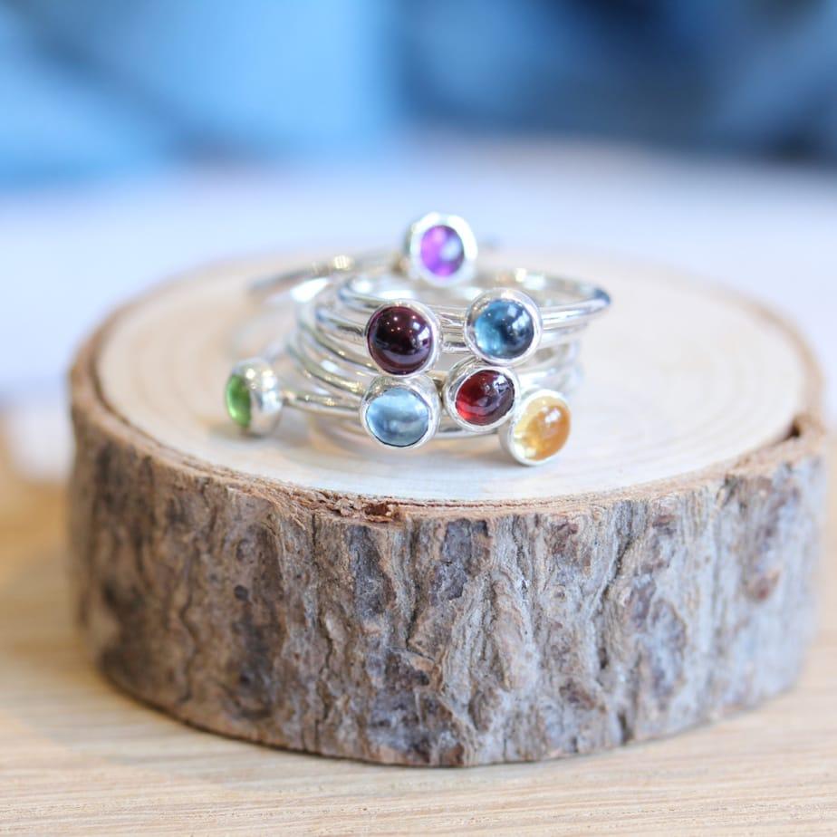 5mm Stacking Gemstone Ring